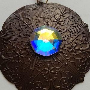 GASOLINE GLAMOUR Jewelry - GYPSY QUEEN MEDALLION OPAL EARRINGS NEW